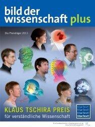 bild der wissenschaft plus 2011 - Klaus Tschira Preis für ...