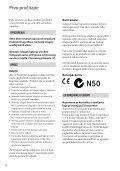 Sony DCR-SR15E - DCR-SR15E Istruzioni per l'uso Croato - Page 2