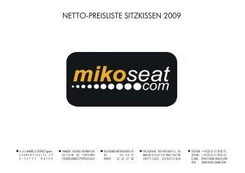 NETTO-PREISLISTE SITZKISSEN 2009