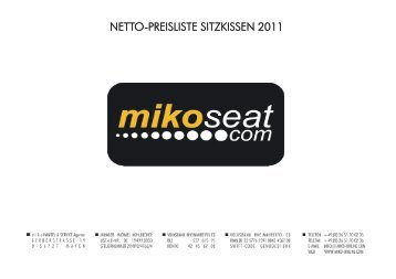 NETTO-PREISLISTE SITZKISSEN 2011