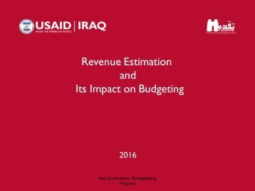 Revenue Estimation and Its Impact on Budgeting