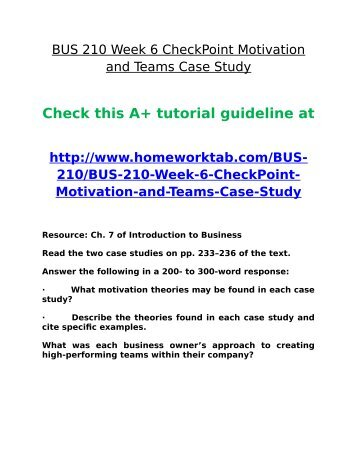 bus 210 week 1 checkpoint Bus 210 week 1 checkpoint business models and systems get tutorial by clicking on the link below or copy paste link in your browser.