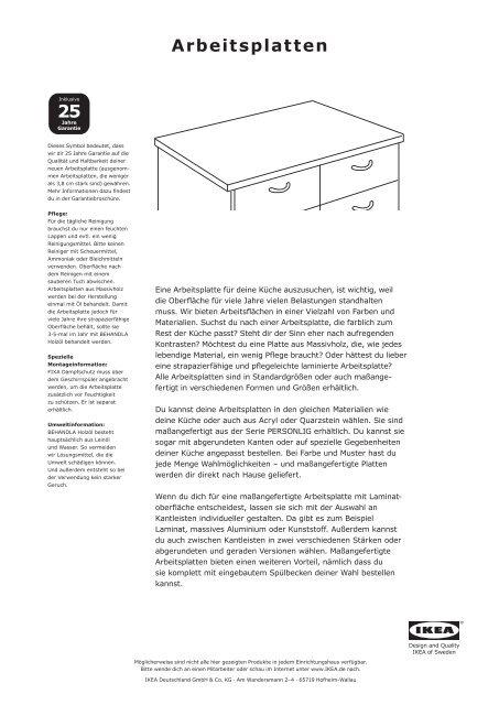 Arbeitsplatten Ikea