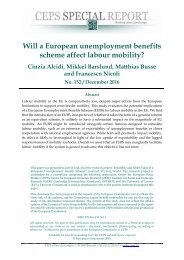 Will a European unemployment benefits scheme affect labour mobility?
