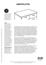 ARBEITSPLATTEN - Ikea