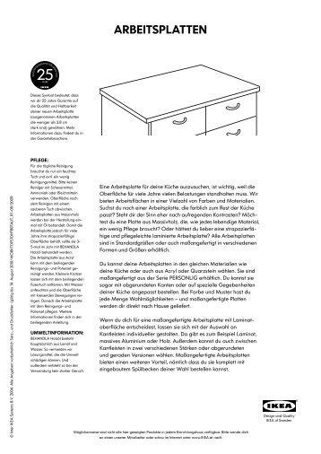 Arbeitsplatten Ikea arbeitsplatten spülen mischbatterien pdf ikea