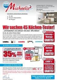 Wir Suchen 45 Küchen Tester Im Möbelhaus Michaelis