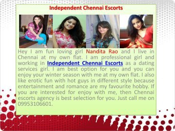 Independent Chennai Escorts with Hot Call Girls
