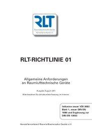 RLT-RICHTLINIE 01 - RLT Raumlufttechnische Geräte