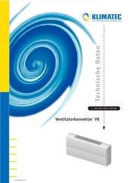Technische Daten Ventilatorkonvektor VK