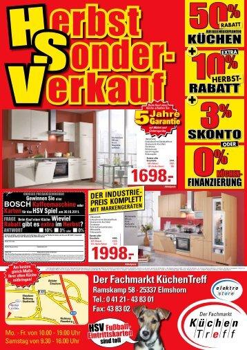 KücHEn SKonto Rabatt - KüchenTreff Elmshorn