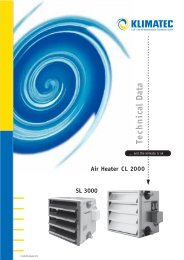 Technical Data SL 3000 Air Heater CL 2000