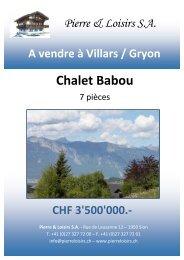Chalet Babou