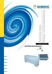 Technische Daten M ontage- und W artungsanleitung - Klimatec Luft