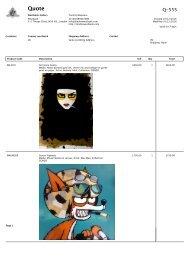 Gonzo group exhibition pricelist