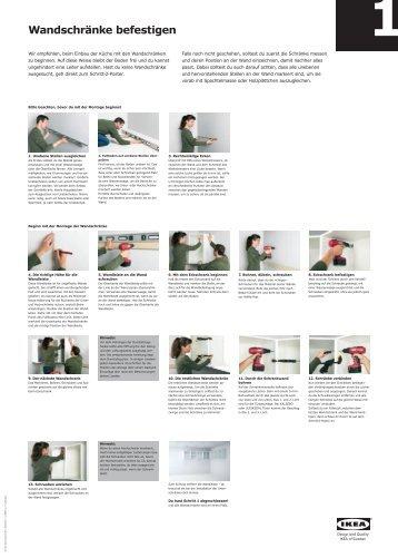 Unter- und Hochschränke aufstellen und befestigen - Ikea