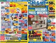 KüchenDISCouNT- PREIS-WoCHEN - Chic & Mit