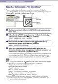Sony NWZ-S764BT - NWZ-S764BT Istruzioni per l'uso Spagnolo - Page 7