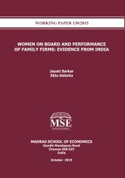 WOMEN ON BOARD AND PERFORMANCE OF FAMILY FIRMS EVIDENCE FROM INDIA