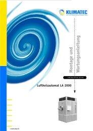 Montage und W artungsanleitung - Klimatec Luft