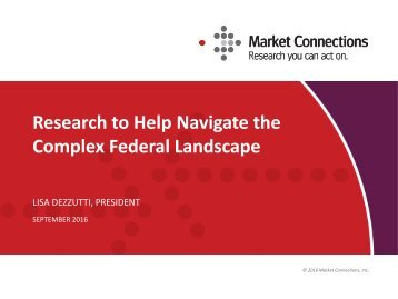 Research to Help Navigate the Complex Federal Landscape
