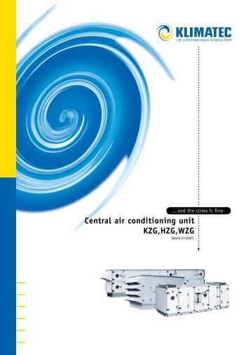 Central air conditioning unit KZG,HZG,WZG