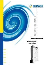 Technische Daten Kompaktgerät ZGW-Juvent - Klimatec Luft