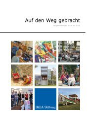 Taetigkeitsbericht 2008_2011 - bei der IKEA Stiftung