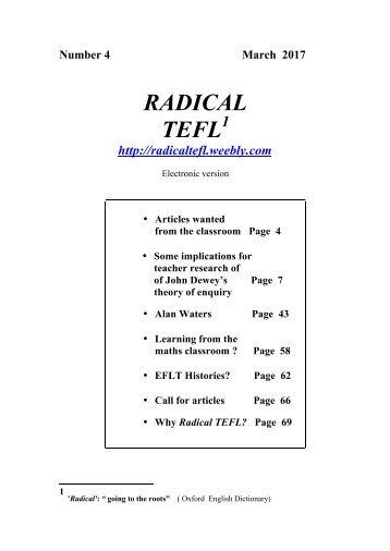 RADICAL TEFL