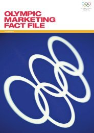 OLYMPIC MARKETING FACT FILE