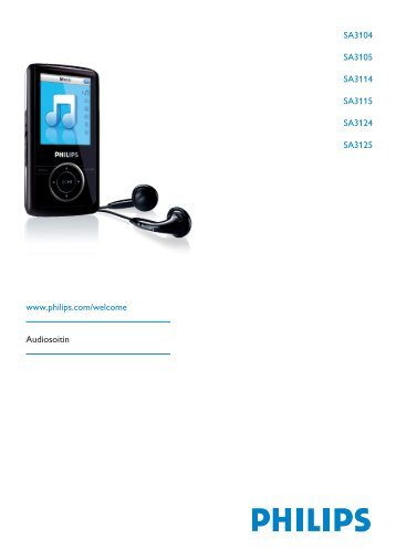 Philips Baladeur audio/vidéo à mémoire flash - Mode d'emploi - FIN