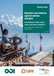 Disasters and violence against women and girls
