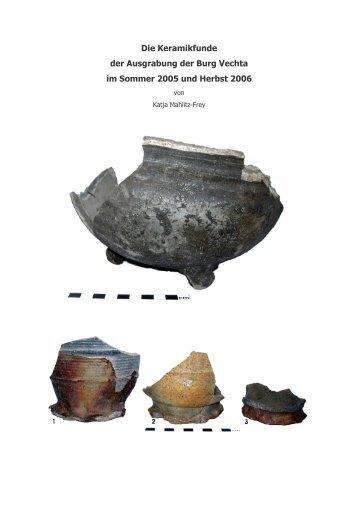Die Keramikfunde der Ausgrabung der Burg Vechta