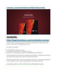 Contentio Review-(FREE) $32,000 Bonus & Discount