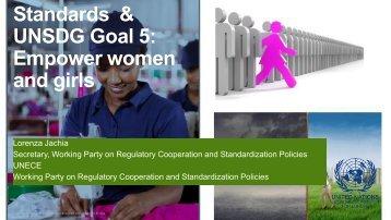 Standards & UNSDG Goal 5 Empower women and girls