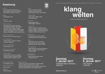 Jubiläumskonzert Klangwelten