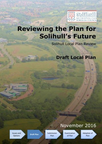 Reviewing the Plan for Solihull's Future