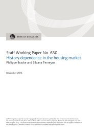 Staff Working Paper No 630 History dependence in the housing market