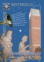 Ausgabe 2005/06: Dez / Jan / Feb - Kirchengemeinde Westercelle