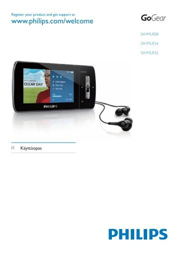 Philips GoGEAR Baladeur vidéo MP3 - Mode d'emploi - FIN