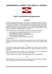 Ruderordnung RV Weser Hameln