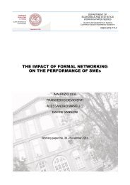 THE IMPACT OF FORMAL NETWORKING ON THE PERFORMANCE OF SMEs