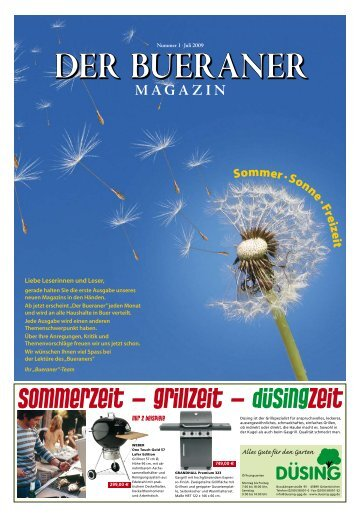 DER BUERANER . Nummer 1 . Juli 2009
