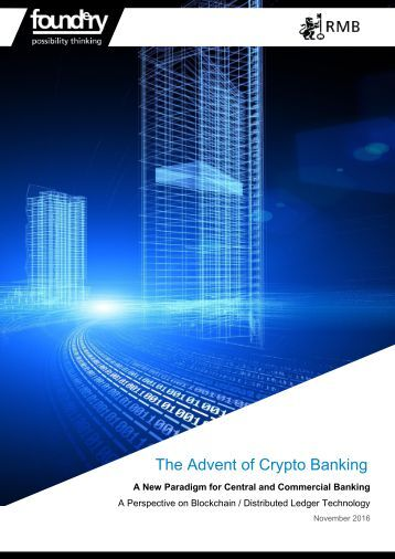 The Advent of Crypto Banking