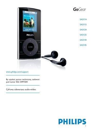 Philips GoGear Baladeur audio/vidéo à mémoire flash - Mode d'emploi - POL