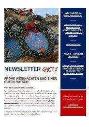 Newsletter Nr. 1