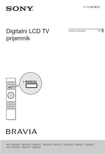 Sony KDL-40HX700 - KDL-40HX700 Istruzioni per l'uso Croato