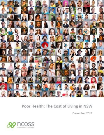 Poor Health The Cost of Living in NSW