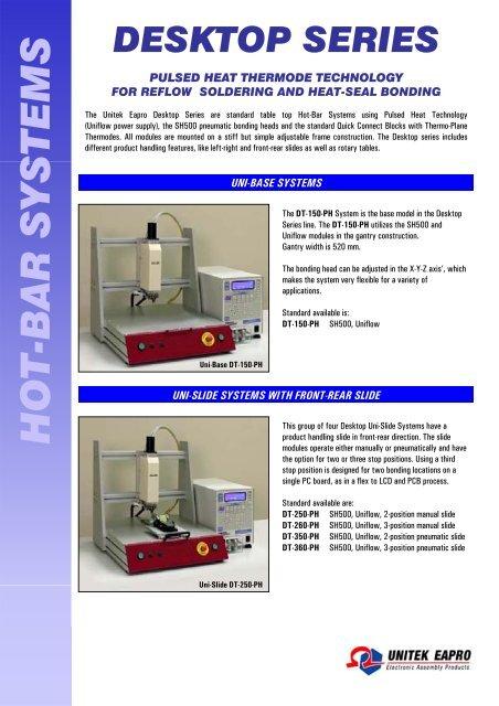 desktop series hot-bar systems - Miyachi Europe