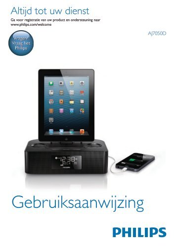 Philips Station d'accueil pour iPod/iPhone/iPad - Mode d'emploi - NLD
